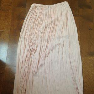Blush Pleaded Maxi Skirt